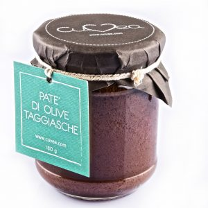 Taggiasca olive spread jar