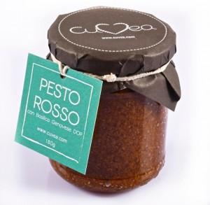 Red pesto sauce jar - Genoa Basil DOP